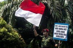 HET NATIONALISMEgevoel VAN INDONESIË stock afbeeldingen