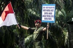 HET NATIONALISMEgevoel VAN INDONESIË royalty-vrije stock fotografie