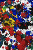 Het natte abstracte schilderen Stock Foto's