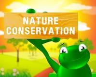 Het natuurbeschermingteken toont Behoud 3d Illustratie stock illustratie