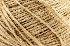Het natuurlijke broodje van de jutestreng, streng van de textuur van de jutedraad stock foto's