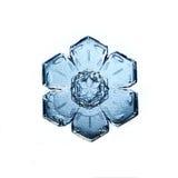 Het natuurlijke macrostuk van de kristalsneeuwvlok van ijs Royalty-vrije Stock Fotografie