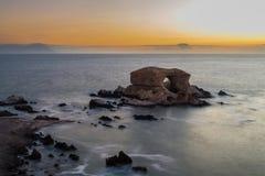 Het Natuurlijke Monument van 'La Portada', Antofagasta (Chili) stock foto's