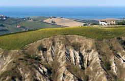 Het natuurreservaat van Atri (Italië), landschap stock foto