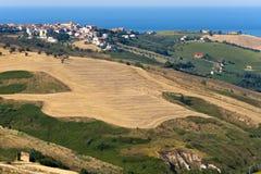 Het natuurreservaat van Atri (Italië), landschap bij de zomer, royalty-vrije stock fotografie