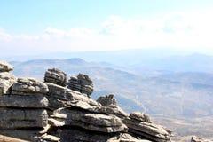 Het Natuurreservaat van het Park van Gr Torcal, Andalusia, Spanje royalty-vrije stock foto's