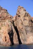 Het natuurreservaat van Scandola, Corsica, Frankrijk Stock Foto's