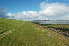 Het natuurreservaatdijk van het landschap Stock Afbeelding