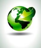 Het nauwkeurige 3D Ontwerp van de Aarde met Groen royalty-vrije illustratie