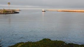 Het navigeren uit veilige en kalme haven stock videobeelden