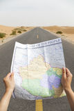 Het navigeren van de wegen Stock Foto's