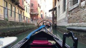 Het navigerende kanaal van Venetië ` s stock videobeelden