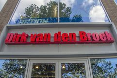 Het Nederland 2018 van aanplakborddirk van de broek supermarket at amsterdam royalty-vrije stock afbeelding