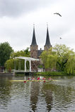 Het Nederlandse Roeien stock foto's