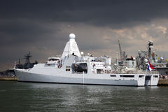Het Nederlandse schip van de marinepatrouille Stock Afbeelding