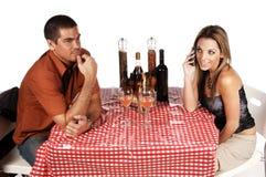 Het Negeren van het Paar van Bistro Royalty-vrije Stock Foto