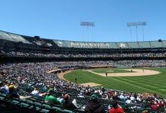 Het nemen in een spel bij een Stadion in Oakland Royalty-vrije Stock Foto's