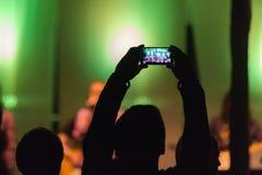 Het nemen van beeld met telefoon Stock Afbeeldingen