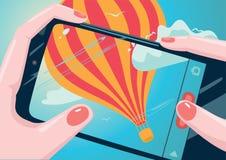 Het nemen van beeld van ballon vector illustratie
