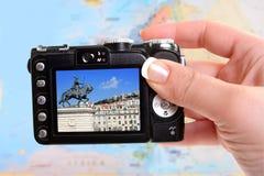 Het nemen van beeld van Lissabon Portugal royalty-vrije stock foto