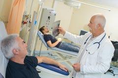 Het nemen van bloed van donor Royalty-vrije Stock Foto