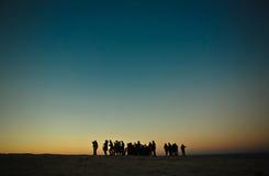 Het nemen van de zonkust Stock Afbeeldingen