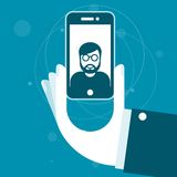 Het nemen van een foto met smartphone Royalty-vrije Stock Afbeeldingen