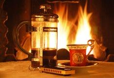 Het nemen van een koffie Stock Foto