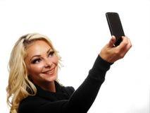 Het nemen van een selfie Stock Afbeeldingen