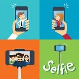 Het nemen van een selfiefoto Stock Foto