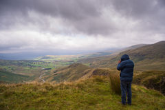 Het nemen van landschapsfoto Snowdonia Stock Afbeelding