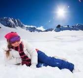 Het nemen van rust van actieve de winteractiviteit Stock Foto