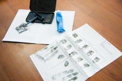 Het nemen van vingerafdrukken Royalty-vrije Stock Foto's