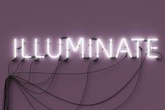 Het neon teken-verlicht vector illustratie