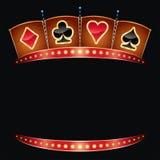 Het neon van het casino Stock Afbeelding