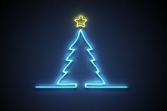 Het neon van Kerstmis stock illustratie