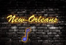 Het neon van New Orleans Stock Foto's