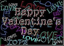 Het neon van valentijnskaarten Stock Foto's