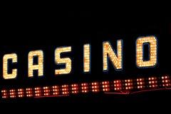 Het neonteken van het casino Stock Afbeeldingen