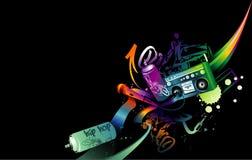 Het neonvector van de muziek Royalty-vrije Stock Foto's