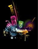 Het neonvector van de muziek Stock Fotografie