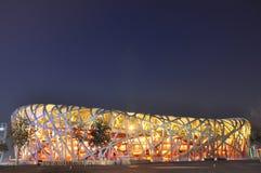 Het Nest van de vogel, het Nationale Stadion Peking van Peking Stock Afbeelding