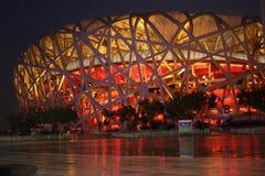 Het nest van de vogel (het Nationale Stadion van Peking) royalty-vrije stock afbeelding