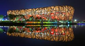Het nest van de vogel (het Nationale Stadion van Peking) Stock Afbeelding