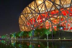 Het nest van de vogel (het Nationale Stadion van Peking) Royalty-vrije Stock Afbeeldingen