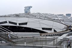 Het Nest van de vogel, Nationaal Stadion, Peking, China royalty-vrije stock afbeeldingen