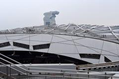 Het Nest van de vogel, Nationaal Stadion, Peking, China stock afbeeldingen