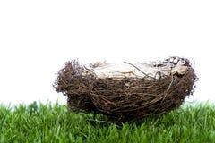 Het nest van het stro royalty-vrije stock fotografie