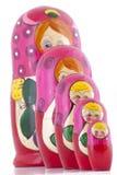 Het Nestelen van Babushka Doll Royalty-vrije Stock Afbeeldingen