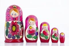 Het Nestelen van Babushka Doll Stock Foto